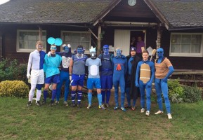 Dorkinian FC Annual Christmas Eve Game 2015 blue