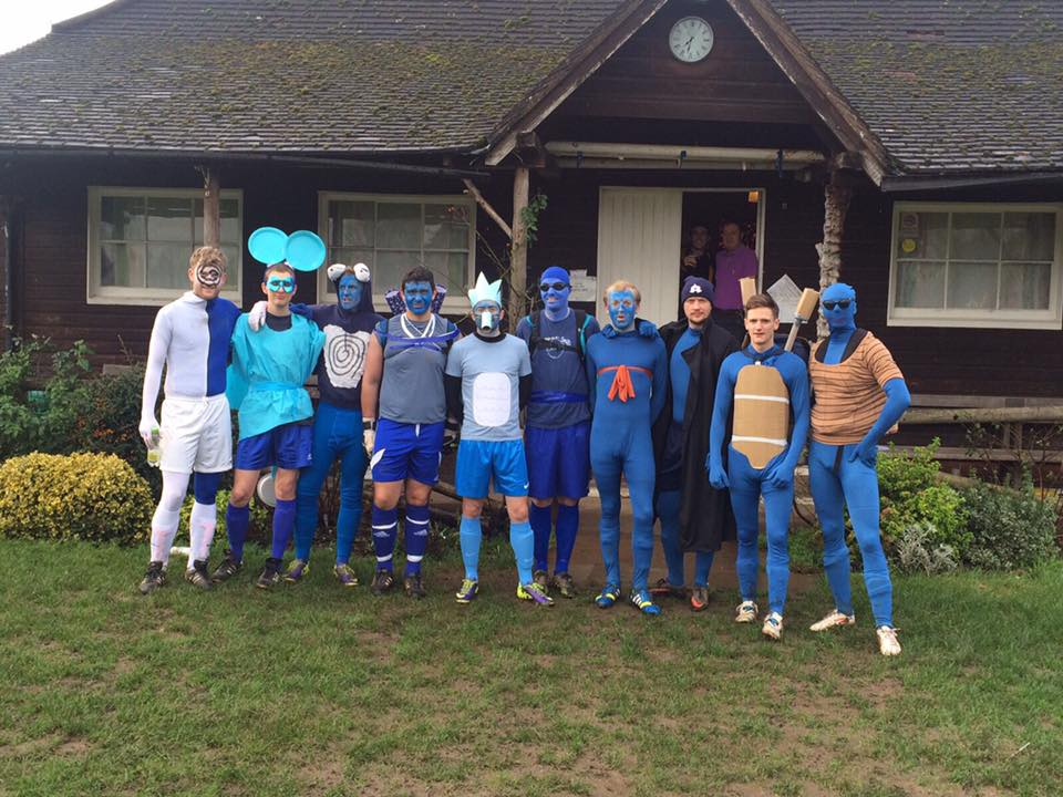 Dorkinian FC Annual Christmas Eve Game 2015 blue