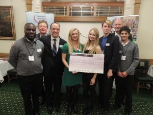 SAY Youth Club recieving grant cheque at House of Commons event