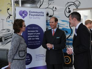 Earl of Wessex visits CFSurrey