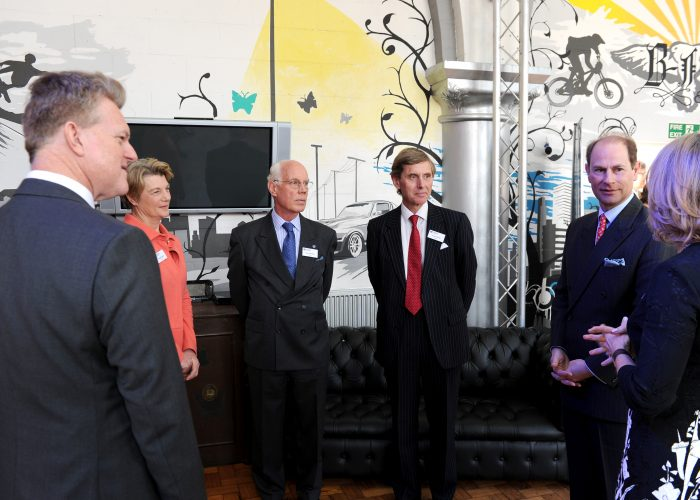 HRH The Earl of Wessex speaks with our trustees