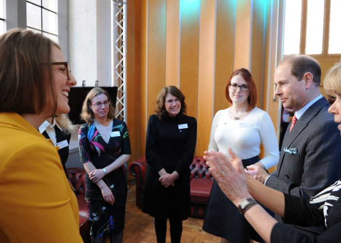 HRH The Earl of Wessex meets the staff of the Community Foundation
