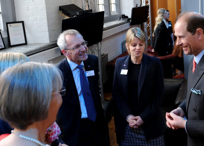 HRH The Earl of Wessex speaks with the Dancer Fund and RASASC