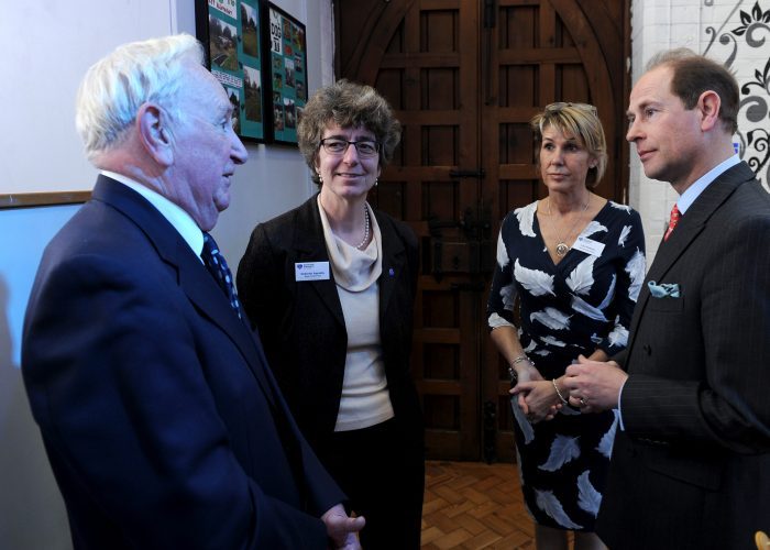 HRH The Earl of Wessex speaks with the Kaye Family Fund and Action for Carers