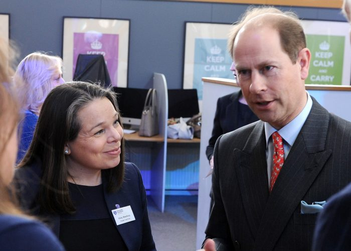 HRH The Earl of Wessex speaks with the Pargiter Trust