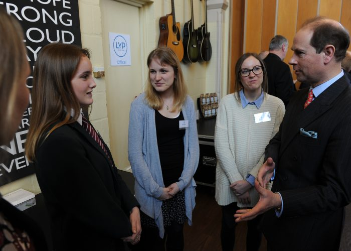HRH The Earl of Wessex meets young people from Leatherhead Youth Project