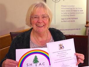 Carol Franssen, Surrey Heath Age Concern befriender